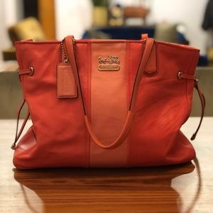 Authentic Coral Coach Chelsea Tote